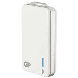 GP, Power Bank, GPXPB20, Li-ion, 5V, 4000mAh, nabíjení mobilních telefonů aj., 1xkonektor, bílá