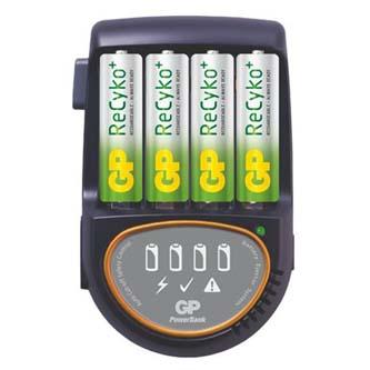 Nabíječka, PB50, na 4 ks AA/AAA, NiMH, 220V (el.síť), nabíjení samotných článků, GP, baterie AA součástí balení
