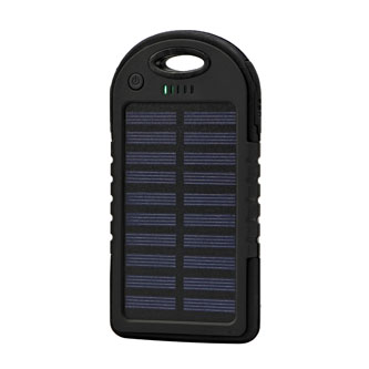 No Name, Power Bank, solární, Li-ion, 5V, 4000mAh, nabíjení mobilních telefonů aj., 2xkonektor