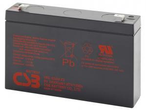 CSB olověný akumulátor HRL634WF2 6V, 9Ah, PBCS-6V009-F2AHL, Highrate, F2