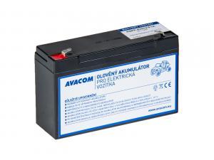 Avacom náhradní baterie (olověný akumulátor) pro Peg Pérego 6V, 12Ah, PBPP-6V012-F1A