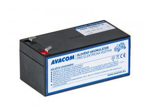 Náhradní baterie (olověný akumulátor) 12V 3Ah do vozítka Peg Pérego F1