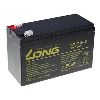 Long olověný akumulátor F2 pro UPS, EZS, EPS, 12V, 7.2Ah, PBLO-12V007,2-F2A, WP7,2-12 F2