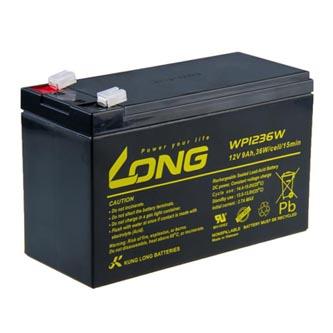 Long olověný akumulátor HighRate F2 pro UPS, EZS, EPS, 12V, 9Ah, PBLO-12V009-F2AH, WP1236W
