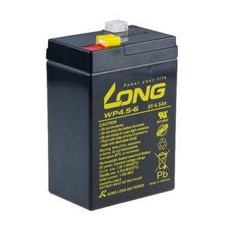 Long olověný akumulátor F1 pro UPS, EZS, EPS, 6V, 4.5Ah, PBLO-6V004,5-F1A