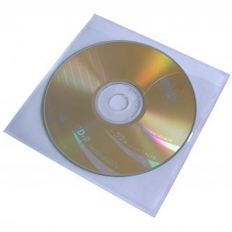 Nalepovací košilka na 1 ks CD, průhledná