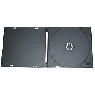 Box na 1 ks CD, měkký plast, černý, tenký, 5,2 mm