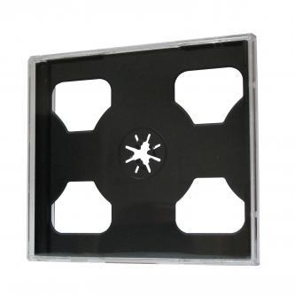 Box na 2 ks CD, průhledný, černý tray, 10,4 mm