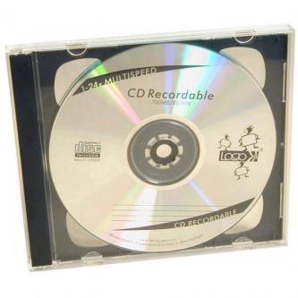 Box na 2 ks CD, průhledný, černý tray, Logo, 10,4 mm, 2-pack