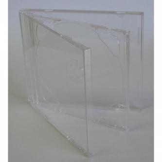 Box na 2 ks CD, průhledný, průhledný tray, 10,4 mm