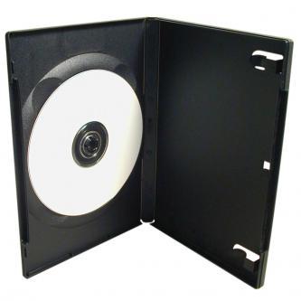 Box na 1 ks DVD, černý, 14mm