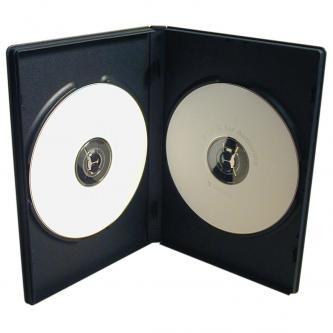 Box na 2 ks DVD, černý, slim, 7mm