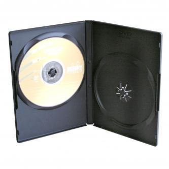 Box na 2 ks DVD, černý, slim, 9mm