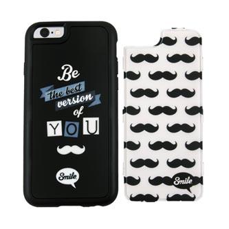 Kryty na iPhone 5/5S/5SE, černo-bílé, TPU, PC, Dress Me Hipster, 2v1, Smile