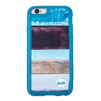 Kryt na Samsung Galaxy S7 Edge, modrý, TPU, Wood Spirit Paint, Smile