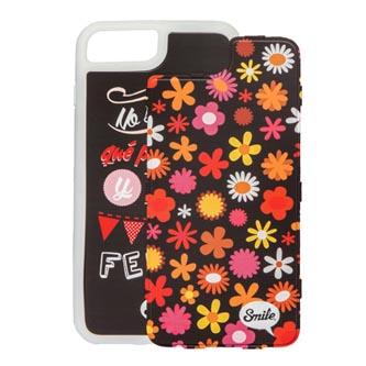 Kryty na iPhone 7 Plus, hnědé, TPU, PC, Dress Me Retro, 2v1, Smile