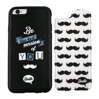 Kryty na Huawei P9 Lite, černo-bílé, TPU, PC, Dress Me Hipster, 2v1, Smile