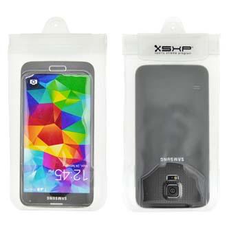 Pouzdro pro Smartphone, bílé, polyuretan, vodotěsné, 147 x 73 x 9