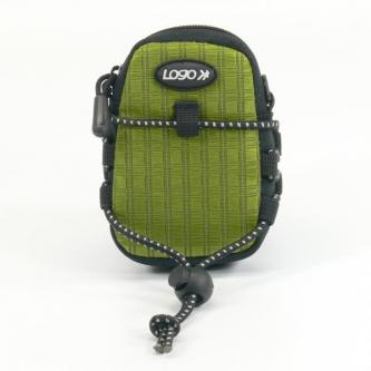 Pouzdro na fotoaparát, nylon, zelené, 10,7 x 6,2 x 2,4cm LOGO