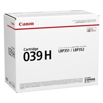 Canon originální toner CRG 039H, black, 25000str., 0288C001, Canon imageCLASS LBP351dn,LBP351x,LBP352dn,LBP352x, O