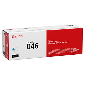 Canon originální toner 046C, cyan, 2300str., 1249C002, Canon i-Sensys LBP653Cdw, 654Cx, MF732Cdw, 734Cdw, 735Cx