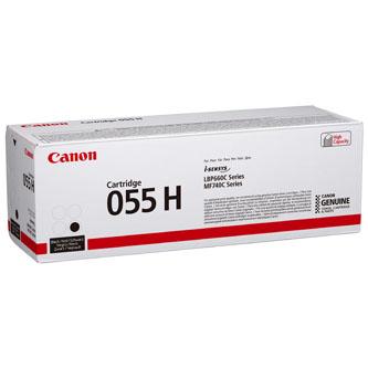 Canon originální toner 055H, black, 7600str., 3020C002, high capacity, Canon MF742Cdw, MF744Cdw, MF746Cx, LBP663Cdw, LBP664Cx