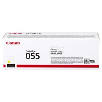 Canon originální toner 055Y, yellow, 2100str., 3013C002, Canon MF742Cdw, MF744Cdw, MF746Cx, LBP663Cdw, LBP664Cx