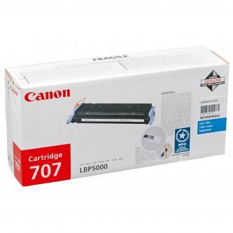 Canon originální toner CRG707, cyan, 2000str., 9423A004, Canon i-SENSYS LBP5000,5100,5101