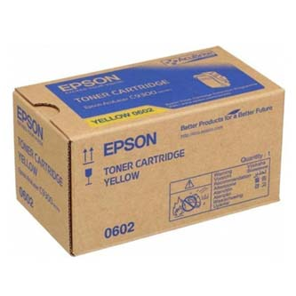 Epson originální toner C13S050602, yellow, 7500str., Epson Aculaser C9300N, O