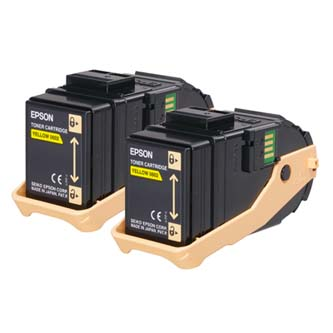 Epson originální toner C13S050606, yellow, 15000str., Epson Aculaser C9300N, dual pack