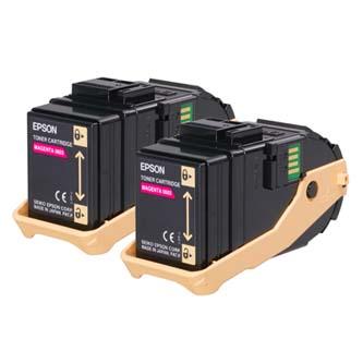 Epson originální toner C13S050607, magenta, 15000str., Epson Aculaser C9300N, dual pack, O