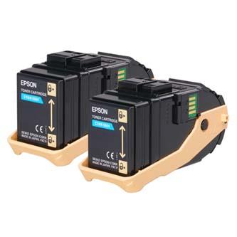 Epson originální toner C13S050608, cyan, 15000str., Epson Aculaser C9300N, dual pack, O