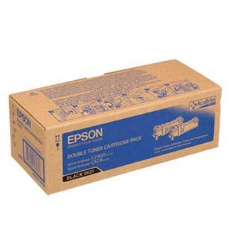 Epson originální toner C13S050631, black, 6000 (2x3000)str., Epson Aculaser C2900N, 2ks, O