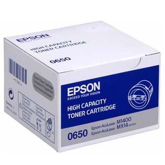 Epson originální toner C13S050650, black, 2200str., high capacity, Epson Aculaser M1400, MX14, O