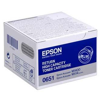 Epson originální toner C13S050651, black, 2200str., return, high capacity, Epson Aculaser M1400, MX14