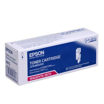 Epson originální toner C13S050670, magenta, 700str., Epson Aculaser C1700, C1750, CX17 series, O