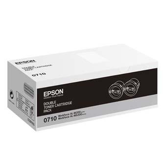 Epson originální toner C13S050710, black, 5000 (2x2500)str., Epson AcuLaser M200, MX200, O