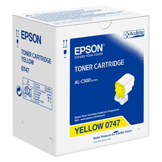 Epson originální toner C13S050747, yellow, 8800str., Epson WorkForce AL-C300N, O