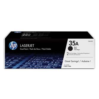 HP originální toner CB435AD, black, 3000 (2x1500)str., HP 35A, HP LaserJet P1005, 1006, dual pack, 2ks