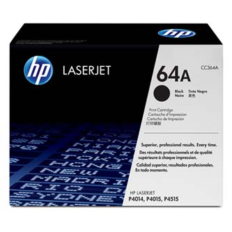 HP originální toner CC364A, black, 10000str., HP 64A, HP LaserJet P4014, 4015, 4515