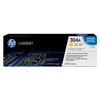 HP originální toner CC532A, yellow, 2800str., HP 304A, HP Color LaserJet CP2025, CM2320