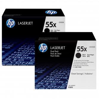 Toner HP CE255XD pro LJ P3015, M525 černý (2x12000 str.)