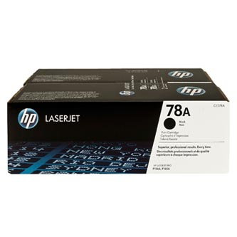 HP originální toner CE278AD, black, 4200 (2x2100)str., HP 78A, HP LaserJet Pro P1566, M1536, dual pack, 2ks