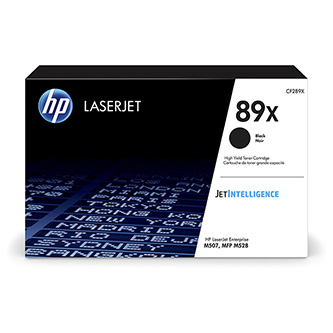 HP originální toner CF289X, black, 10000str., HP 89X, high capacity, HP LaserJet Enterprise M507, MFP M528