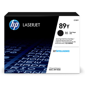 HP originální toner CF289Y, black, 20000str., HP 89Y, extra high capacity, HP LaserJet Enterprise M507, MFP M528