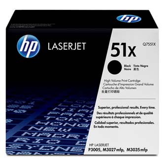 HP Q7551X Toner Cart pro LJ P3005/M3035mfp/M3027mfp(13000 str.)
