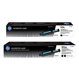 HP originální Neverstop Toner Reload Kit W1103AD, black, HP 103AD, HP Neverstop Laser MFP 1200, Neverstop Laser 1000, dual pack