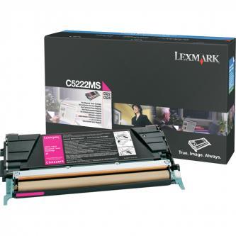 Lexmark originální toner C5222MS, magenta, 3000str., Lexmark C52x, C53x