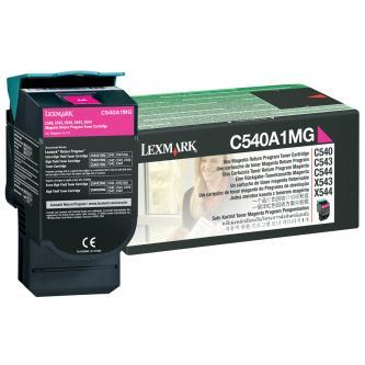 Lexmark originální toner C540A1MG, magenta, 1000str., Lexmark C540, X543, X544, X543, X544, O