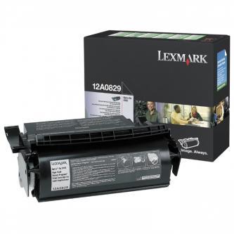 Lexmark originální toner 12A0829, black, 23000str., return, Lexmark Optra SE-3455, Labelprint